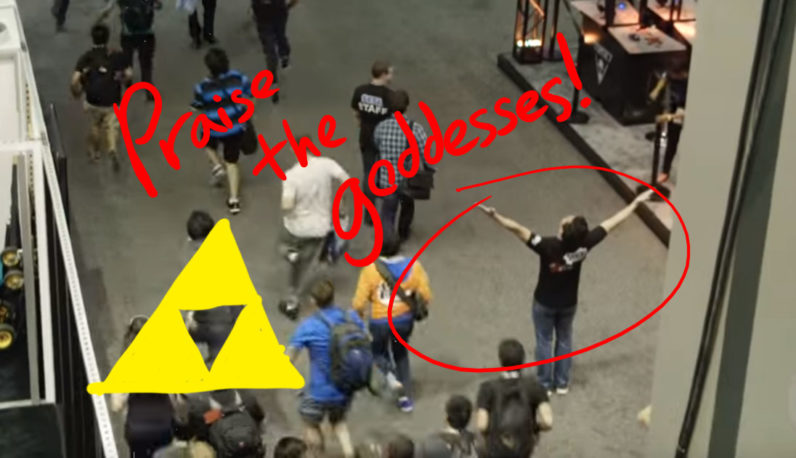 Watch how Zelda's eight-hour line at E3 resulted in a literal stampede
