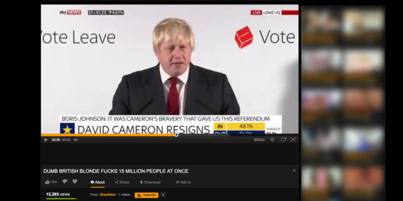 Ex-London Mayor's Brexit speech is now on Pornhub, proving nothing is sacred