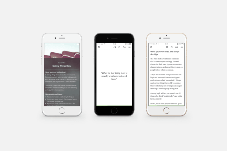 Blinkist launches a magazine that's the cliff's notes for picking your cliff's notes ...