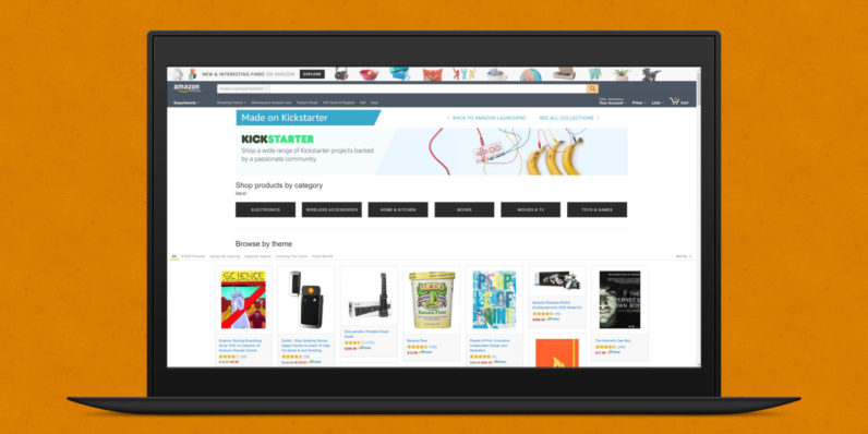 Amazon now has an 'As Seen on Kickstarter' section