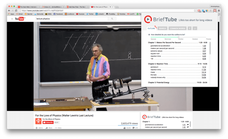 This Chrome add-on makes watching lectures on YouTube easy