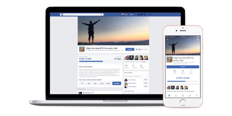 Facebook now lets you raise funds for your favorite charities
