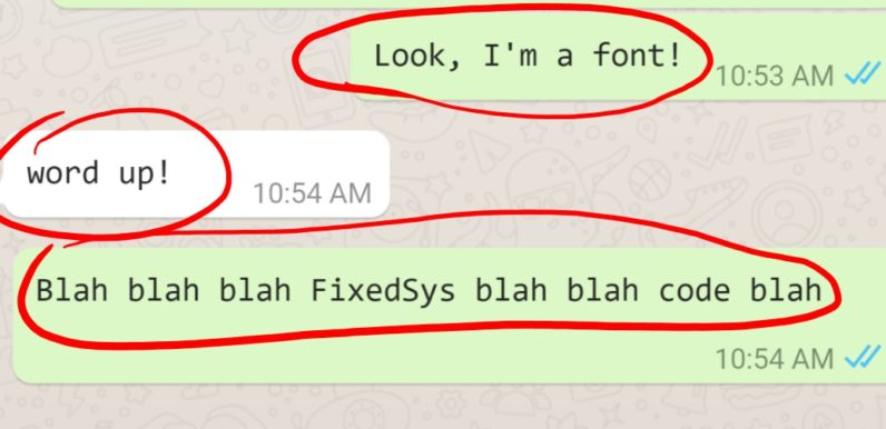 How to try WhatsApp's hidden font for developers