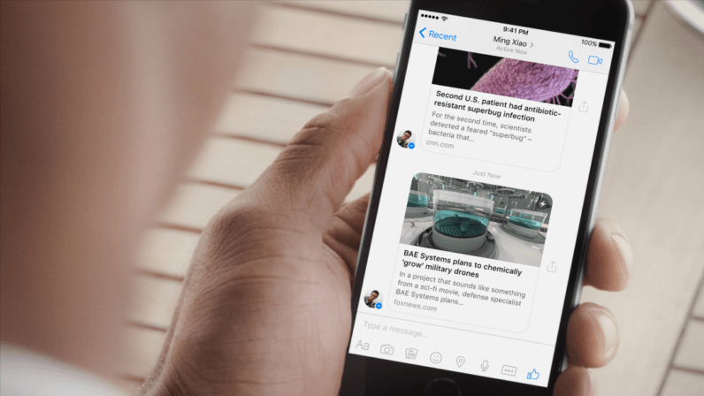 Facebook is bringing Instant Articles to Messenger
