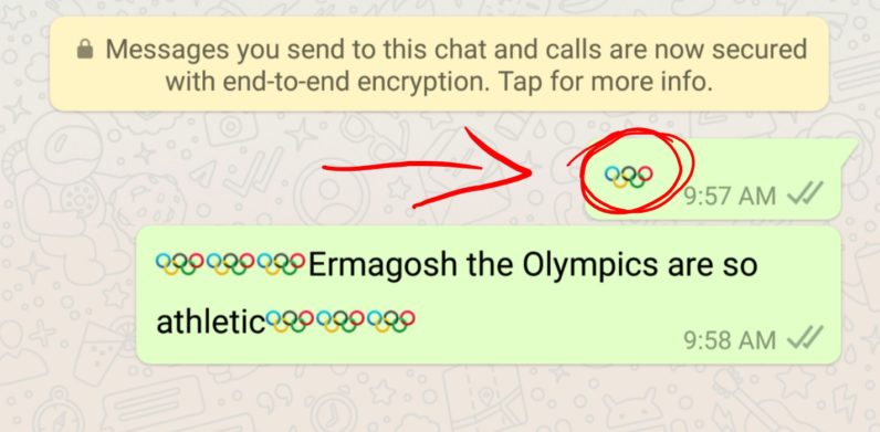 WhatsApp has a hidden Olympics emoji