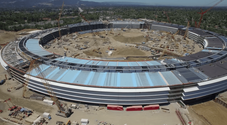 Take a sneak peek at Apple's nearly complete spaceship campus