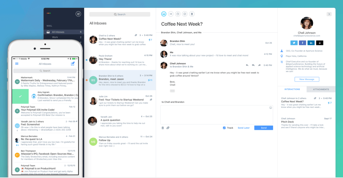 Polymail now has an iOS app to take on Gmail and Apple Mail
