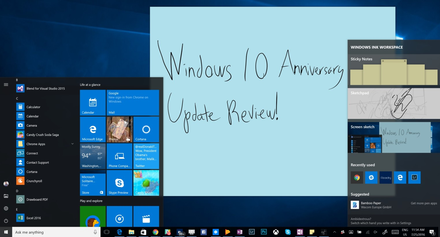Windows 10 anniversary update review and recap for Windows 10 update