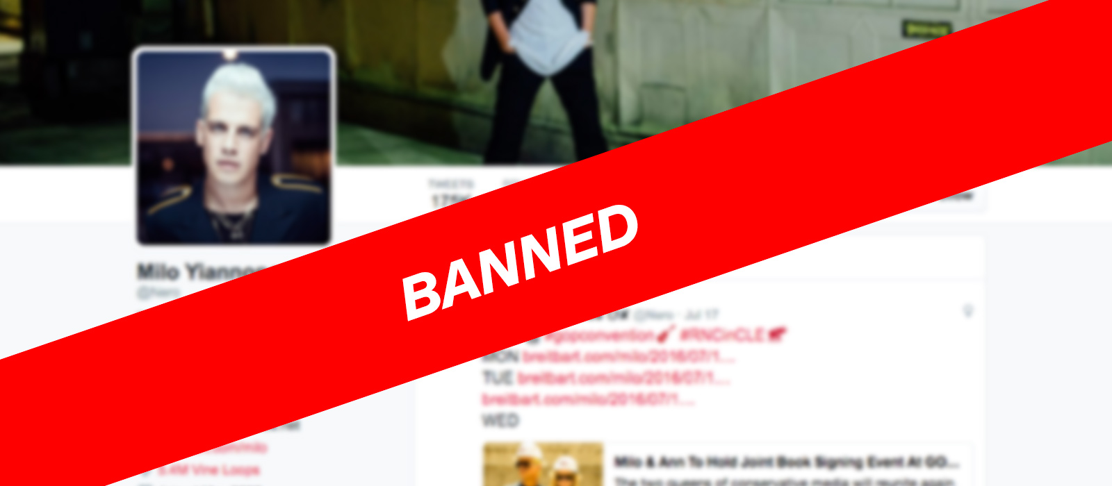 Twitter gives Milo Yiannopoulos the axe, bans him permanently