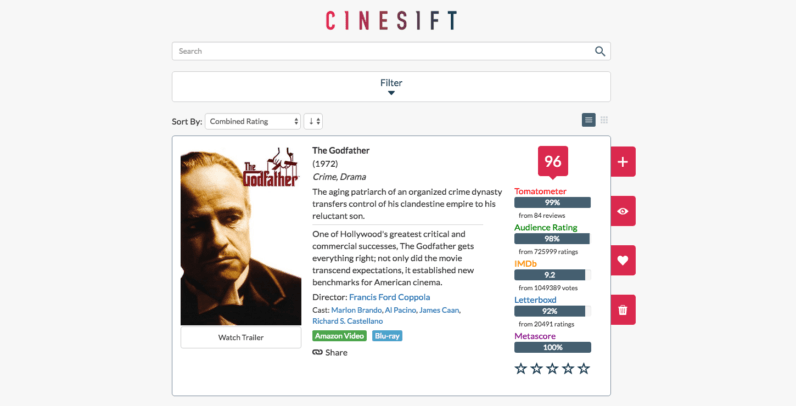 You'll never have to worry about picking a movie with this awesome film database