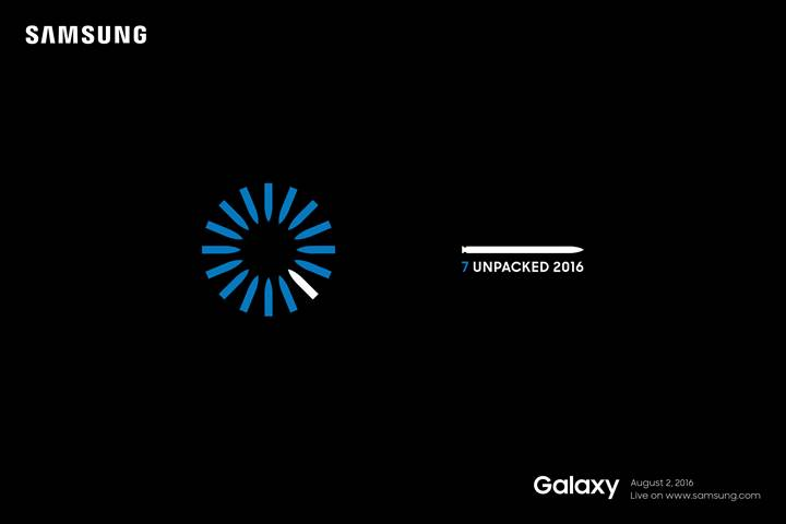 Samsung is officially unveiling the Galaxy Note 7 on August 2