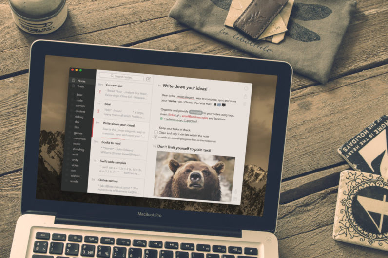 Bear is a beautiful writing app for crafting notes and prose