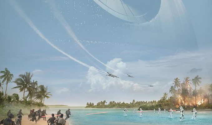 Here's your suitably summery 'Rogue One: A Star Wars Story' poster