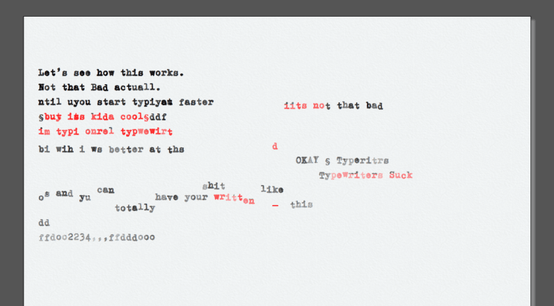 Type like your grandmother used to with this authentic typewriter simulator