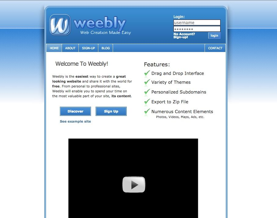 Weebly shows us how Web design has changed over a decade