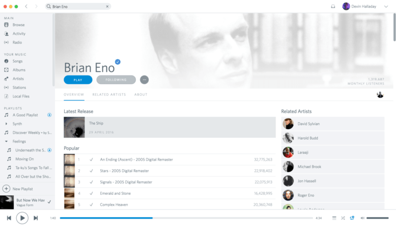 This Spotify theme brings back everything we loved about Rdio