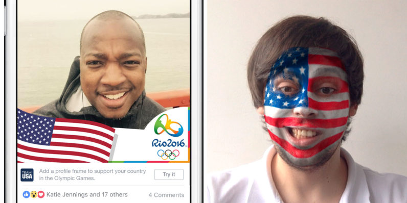 Of course Facebook is releasing a bunch of photo filters for the Olympics