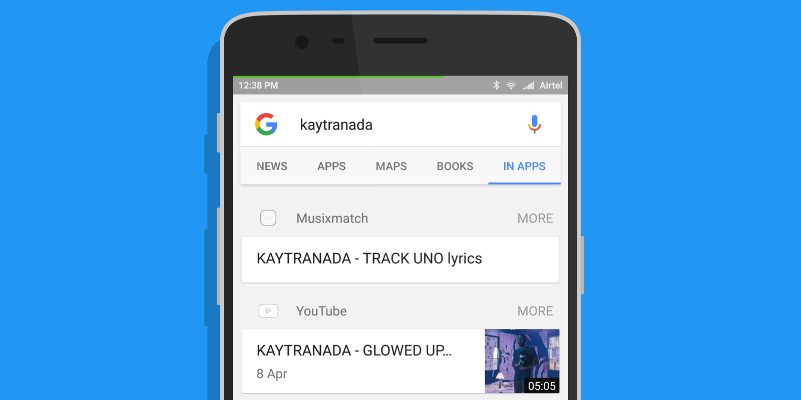 Google's new search mode surfaces results from Android apps