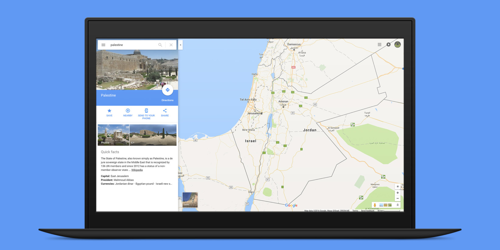 Google says it didn't remove 'Palestine' from its maps