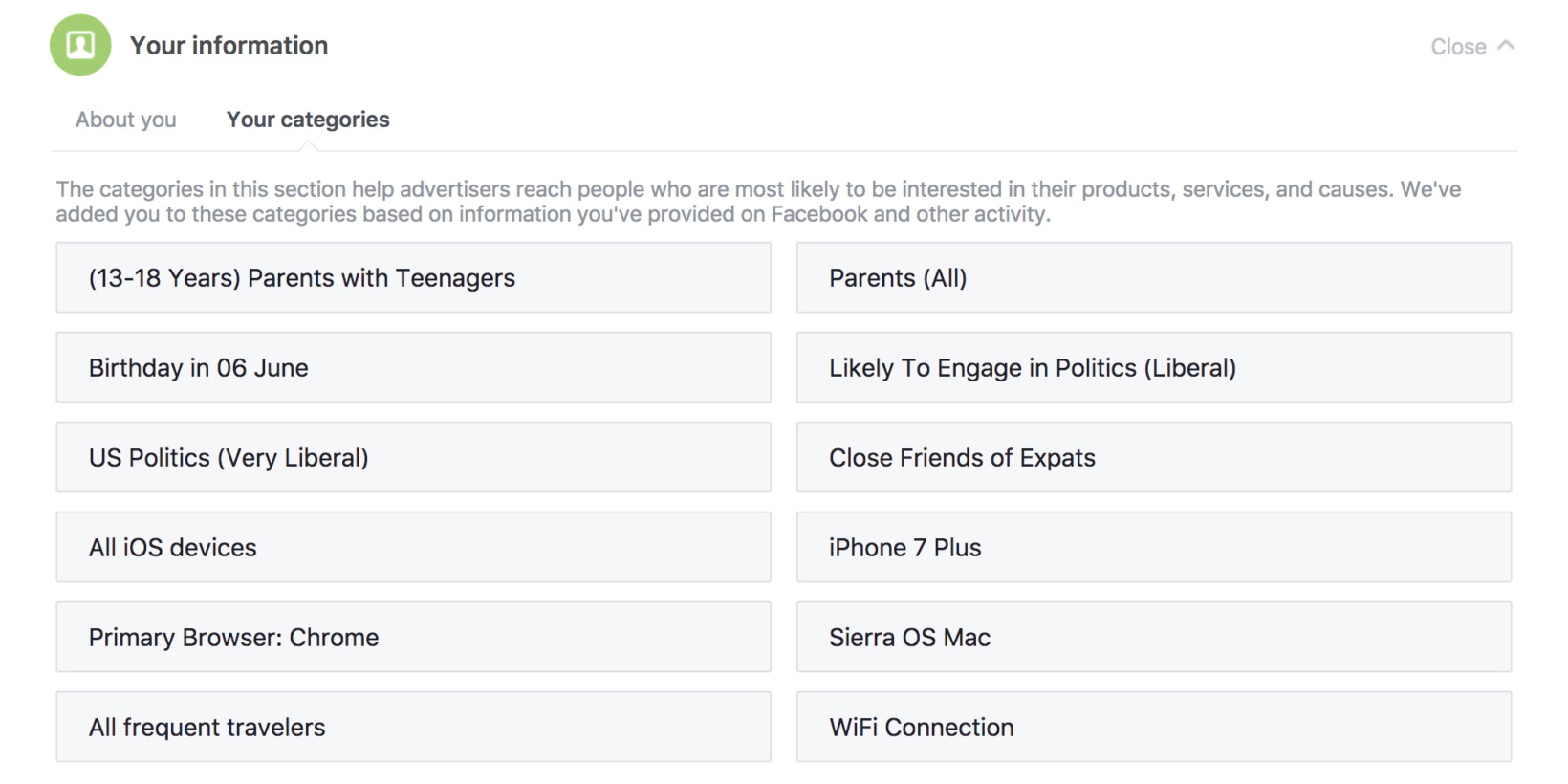 Facebook tracks scary-specific details about your life. Here's what it knows