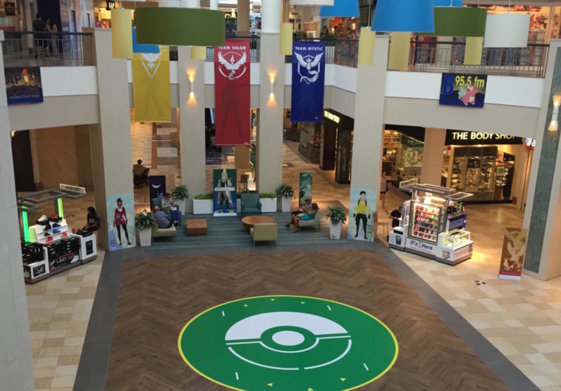 Mall embraces Pokémon Go and turns its lobby into a designated battle arena