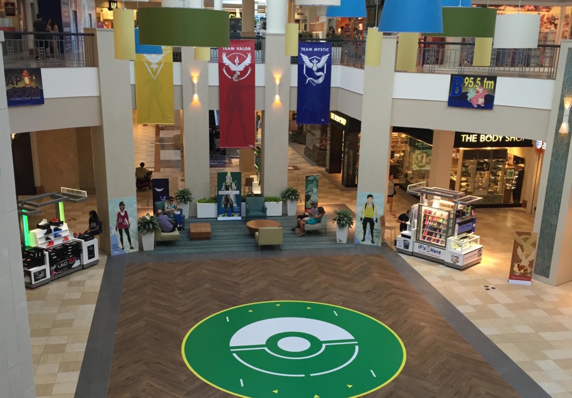 Mall embraces Pokémon Go, turns its lobby into a battle arena