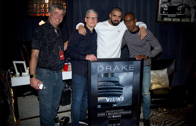 Drake's Views is the first album to break one billion streams on Apple Music