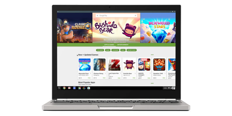 Google Play is now bringing Android apps to Chromebooks