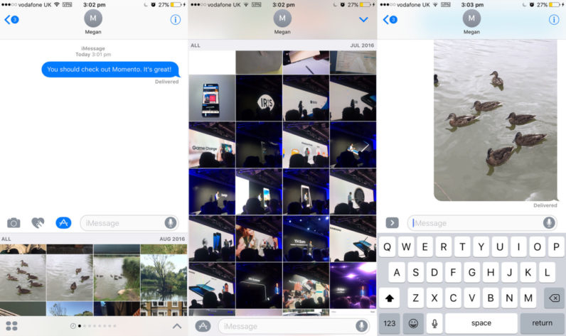 Momento is a must-have iMessage application for anyone who sends a lot of pictures
