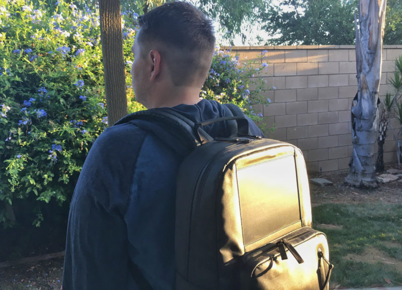 This solar-powered backpack could end your battery woes forever
