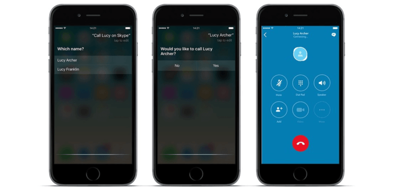 Skype update uses Siri to complete calls without opening the app