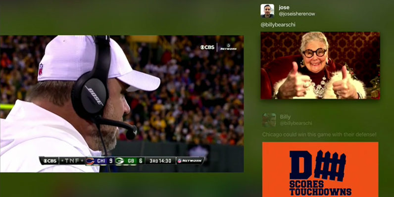 Twitter reactions to live video are coming to Apple TV