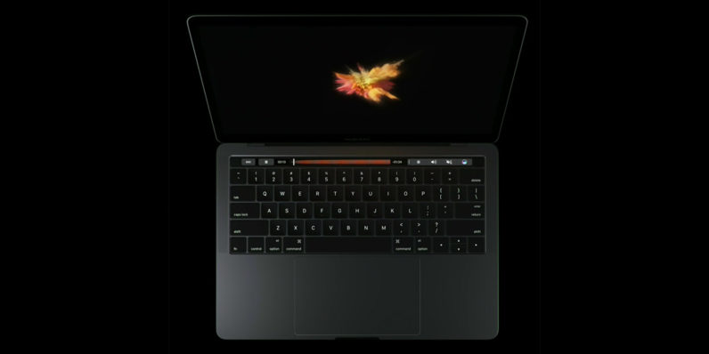 macbook pro, touch bar, apple