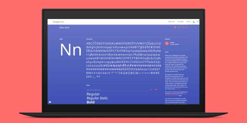 Google's beautiful new free font covers 800+ languages