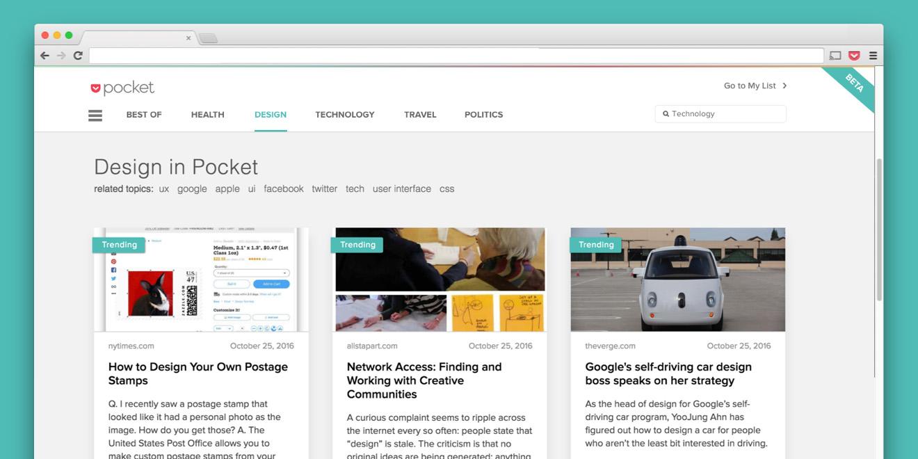 Pocket makes it easier for avid readers to binge on the Web's best articles