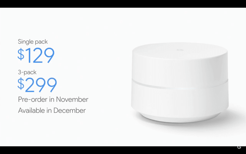 Google announces 'Wifi' a $129 smart router that kills deadzones