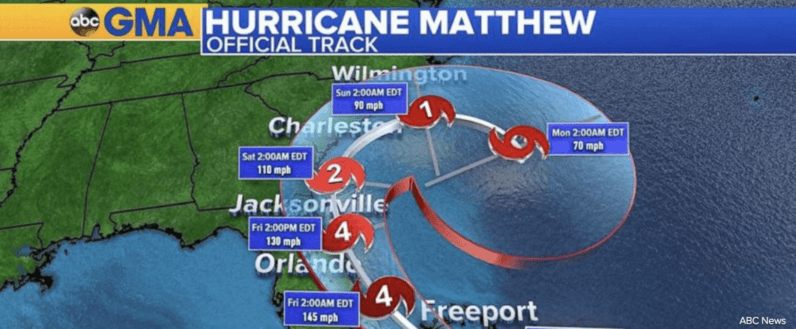 Facebook activates Safety Check for those in the path of Hurricane Matthew