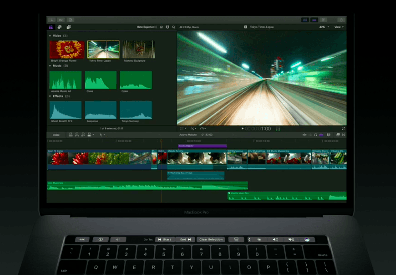 Apple demonstrates Final Cut Pro's potential with the new Touch Bar
