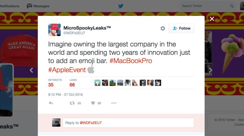 macbook, apple, twitter