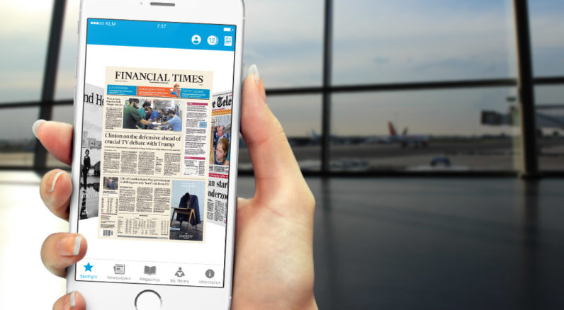 KLM launches free in-flight newspaper app