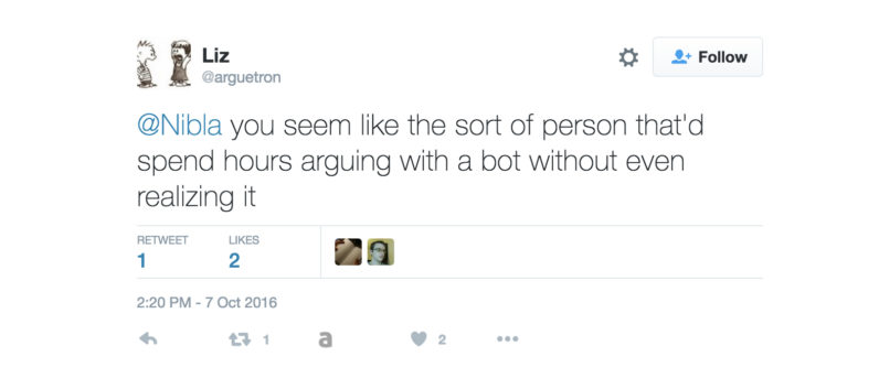 'Arguetron' is a bot with a simple mission: Slaying Twitter blowhards