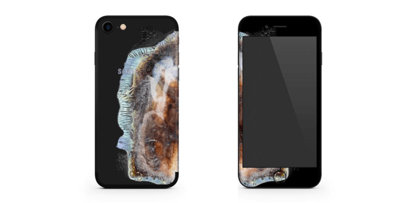 This case makes your iPhone look like an exploded Note 7