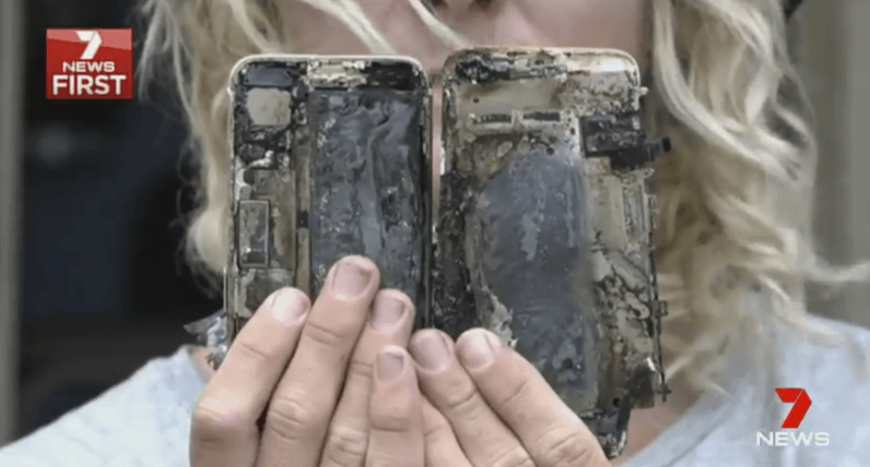 iphone 7, apple, car explosion