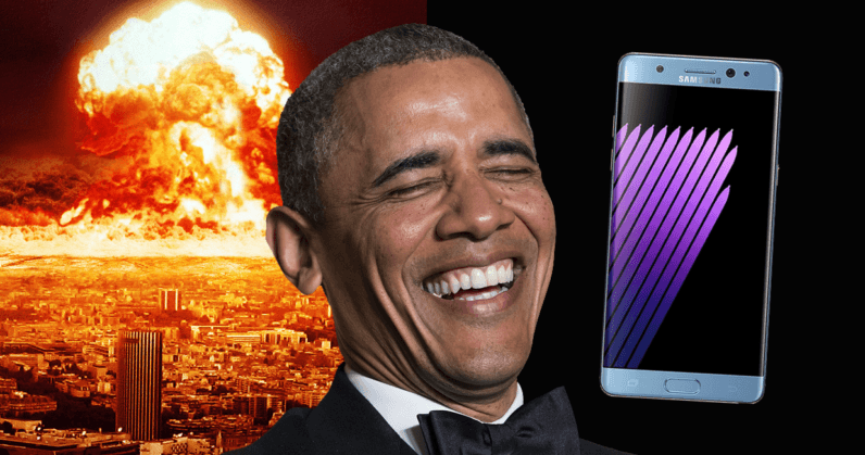 samsung, galaxy note 7, president barack obama