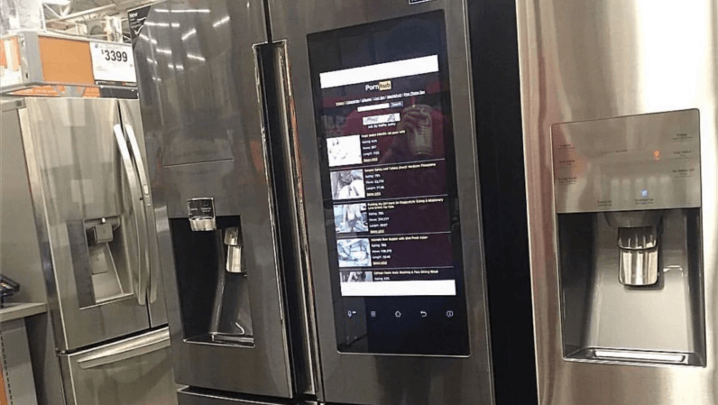 This Pornhub-powered smart fridge could be Home Depot's new bestseller