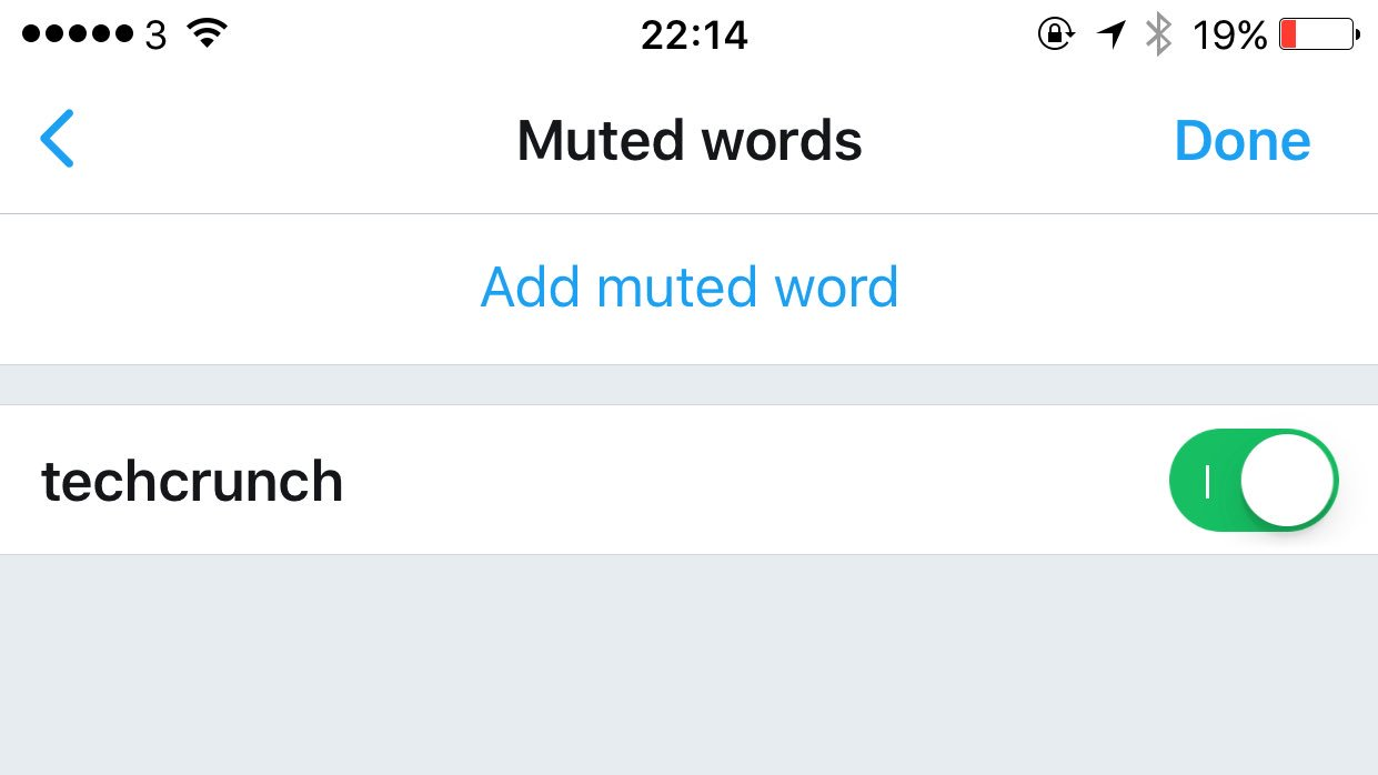Twitter accidentally released its new 'muted words' feature a bit too early