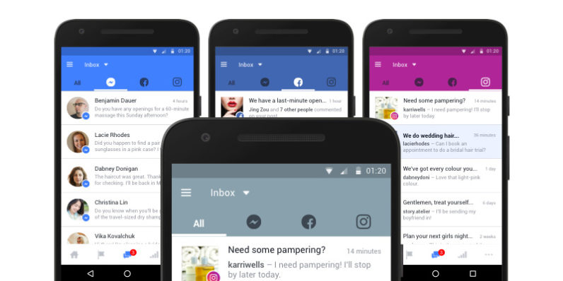 Facebook Pages, Messenger and Instagram now have a unified inbox