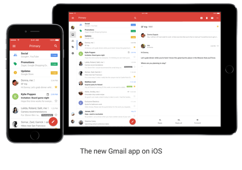 Gmail just got its biggest update on iOS in four years
