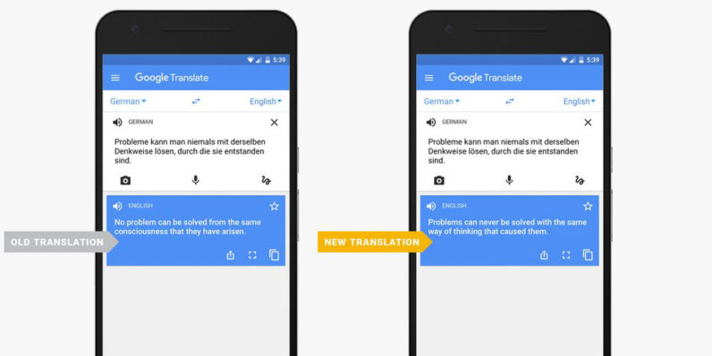 Google Translate now fares better with whole sentences