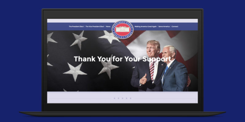 Trump's .gov site is now online